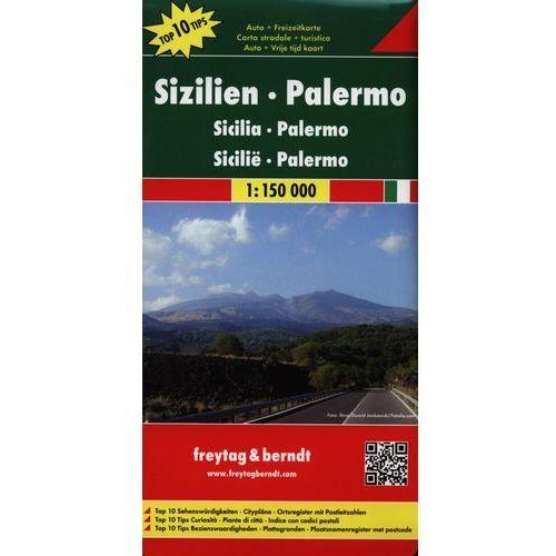 Mapy i atlasy turystyczne, Sycylia, Palermo 1:150 000. Mapa samochodowa, składana. Freytag&Berndt (opr. twarda)