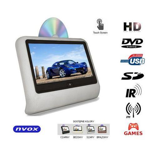 "Monitory samochodowe, NVOX VR9917THD GR Monitor dotykowy samochodowy zagłówkowy LCD 9"" cali LED HD DVD USB SD IR FM GRY 12V"