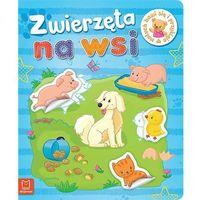 Książki dla dzieci, Maluch bawi się i przykleja Zwierzęta na wsi - Praca zbiorowa (opr. miękka)