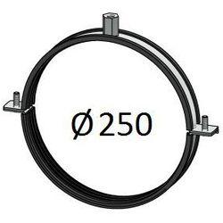 Obejma z uszczelką Średnice od DN 100-400 mm do rur Spiro Przewodów wentylacyjnych Średnica [mm]: 250