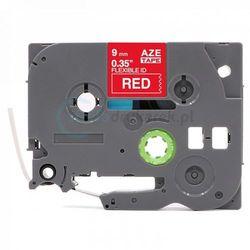 Taśma Brother Flexi TZe-FX425 czerwona/biały nadruk 9mm x 8m zamiennik