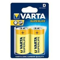 Baterie, bateria cynkowo-węglowa Varta Superlife R20 D (blister)
