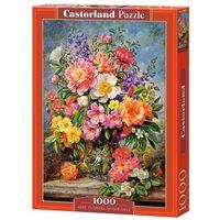 Puzzle, Puzzle 1000 June Flowers in Radiance - Castor OD 24,99zł DARMOWA DOSTAWA KIOSK RUCHU