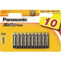 Baterie, 10 x Panasonic alkaline power LR3/AAA (blister)