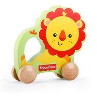 Zabawki z drewna, Fisher-Price Drewniany Lew na kółkach 1000_1