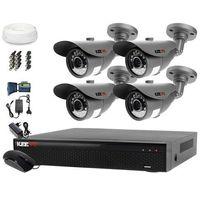 Zestawy monitoringowe, Monitoring Domu Zestaw AHD Rejestrator LV-XVR44SE + Kamera 4x LV-AL20MT + akcesoria