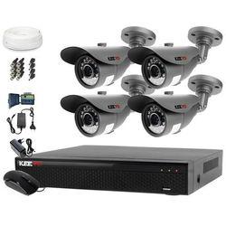 Monitoring Domu Zestaw AHD Rejestrator LV-XVR44SE + Kamera 4x LV-AL20MT + akcesoria