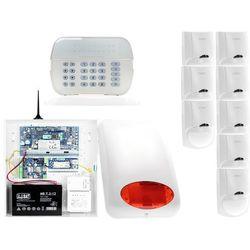 ZA12548 Zestaw alarmowy DSC 8x Czujnik ruchu Manipulator LED Powiadomienie GSM