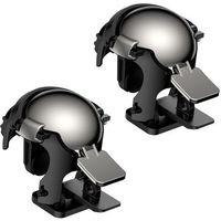 Uchwyty do telefonów, Baseus Level 3 Helmet PUBG pad gamepad joystick do telefonu do gier czarny (GMGA03-A01) - Czarny