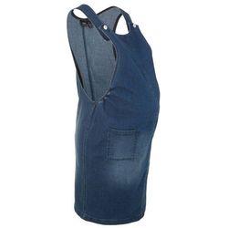 Sukienka ciążowa dżinsowa ogrodniczka bonprix ciemnoniebieski