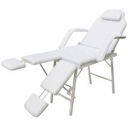 vidaXL Fotel kosmetyczny z regulacją podnóżków biały Darmowa wysyłka i zwroty