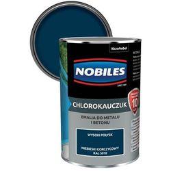 Emalia chlorokauczukowa Nobiles do metalu i betonu niebieski gorczycowy 0,9 l