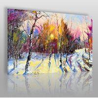 Obrazy, Zimowy poranek - nowoczesny obraz do salonu