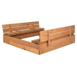 Piaskownica zamykana drewniana - impregnowana