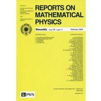 Książki medyczne, Reports on Mathematical Physics 81/1 2018 Kraj (opr. miękka)