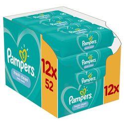 Chusteczki Pampers FreshClean12x52- Zamów do 16:00, wysyłka kurierem tego samego dnia!