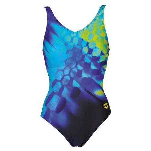 Stroje kąpielowe, arena Plumage B Strój kąpielowy Kobiety czarny/kolorowy DE 46 / US 42 2018 Stroje kąpielowe