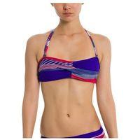 Stroje kąpielowe, strój kąpielowy BENCH - Twist Bandeau Top A0657-Crazy Small Stripe Repea (P1203)