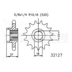 Zębatka przednia JT 50-32127-17, 17Z, rozmiar 520 2201290 Aeon Overland 180