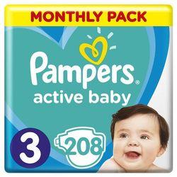 pieluchy active baby 3 midi - 208 sztuk marki Pampers