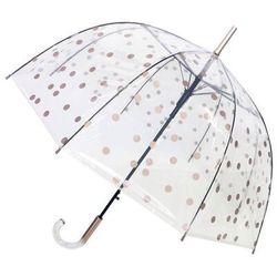 Smati Parasol przezroczysty, dzwonkowy w miedziano-złote kropki paris (ubul6060) (3760042161561)